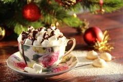 Kawa z marshmallows Zdjęcie Stock