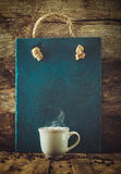 Kawa z menu deską Zdjęcie Royalty Free