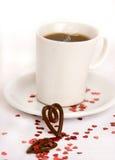 Kawa z miłością zdjęcia stock
