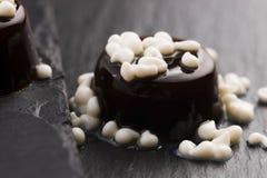 Kawa z mleko kroplami - cząsteczkowy gastronomy zdjęcie royalty free