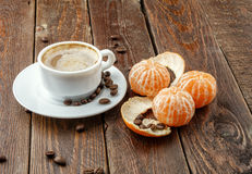 Kawa z tangerine Obrazy Royalty Free