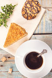 Kawa z tortem Obrazy Royalty Free