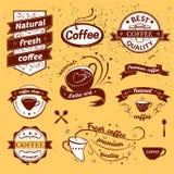 Kawa znaki ustawiający Obrazy Royalty Free