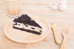 Kawałek ciastka i kremowy ser Fotografia Royalty Free