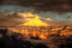 Kawagarbo, montanha tibetana da peregrinação foto de stock