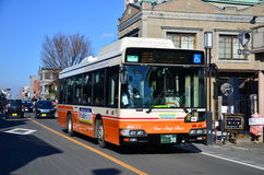 KAWAGOE,日本- 2016年10月:Tobu Koedo公共汽车 库存照片