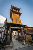 Kawagoe Bell Tower. Kawagoe, Japan - January 20, 2015:  Kawagoe's Bell Tower was built in the early 1600's but has been rebuilt several times due to Stock Images