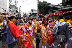 Kawagoe festival on Oct  19 2013 in Kawagoe Royalty Free Stock Photography