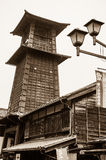 KAWAGOE, JAPAN - October 31st, 2014 : Bell Tower,toki no kane. The famous bell tower of Kawagoe town Stock Photography