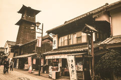 KAWAGOE JAPONIA, Październik, - 31st, 2014: Dzwonkowy wierza, tok żadny kane Obraz Royalty Free