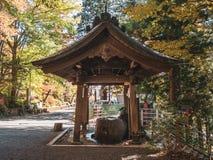 Arakura Sengen Shrine. Kawaguchi, Japan - November 1, 2018: Arakura Sengen Shrine in Fujiyoshida, Yamanashi Prefecture near to Chureito Pagoda, It was built as a stock photos