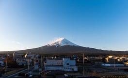 Kawaguchi-ko village with Mt. Fuji view  in autumn season Stock Photo
