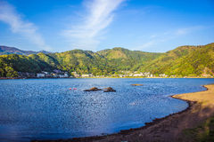 Kawaguchi sjö Royaltyfri Fotografi