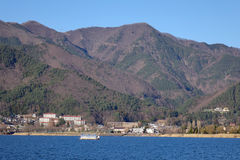 Kawaguchi village with the lake in Saitama, Japan Stock Photos