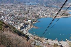 Kawaguchiki sjö Royaltyfria Bilder