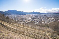KAWAGUCHIKO, ΙΑΠΩΝΙΑ - 19 ΦΕΒΡΟΥΑΡΊΟΥ 2016: εικονική παράσταση πόλης Shimoyoshi Στοκ φωτογραφίες με δικαίωμα ελεύθερης χρήσης