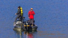 Люди на озере Kawaguchiko Стоковое Изображение RF