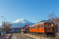 Kawaguchiko Japón - diciembre de 2014 fotografía de archivo