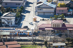 KAWAGUCHIKO, JAPAN - FEBRUARI 19, 2016: cityscape van Shimoyoshi Royalty-vrije Stock Fotografie
