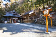 KAWAGUCHIKO, JAPAN - FEBRUARY 19, 2016 : Arakura Sengen Shrine l. Ocated near the Chureito Pagoda, landscape Royalty Free Stock Photos