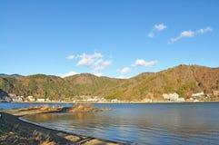 Kawaguchiko sjö Royaltyfri Bild