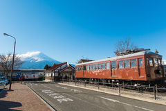 Kawaguchiko Station with Mount Fuji Stock Images