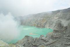 Kawah Ijen Crater - East Java, Indonesia Royalty Free Stock Photo