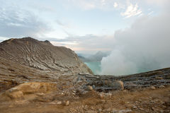 Kawah Ijen Crater, Indonesia Royalty Free Stock Photo
