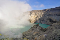 Kawah Ijen crater Royalty Free Stock Photo