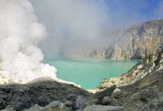 Kawah Ijen crater Royalty Free Stock Image