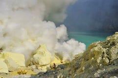 Kawah Ijen crater Stock Image
