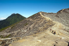 Kawah ijen freien Himmel des Vulkans Stockbilder