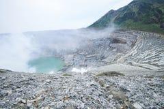 Kawah ijen il cratere Fotografia Stock Libera da Diritti