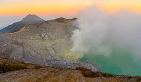 Kawah Ijen in the morning Royalty Free Stock Photo