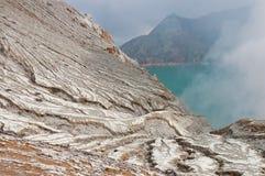 Kawah ijen o vulcão Imagens de Stock