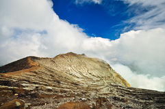 Kawah ijen o vulcão Imagem de Stock