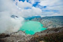 Kawah ijen o vulcão Foto de Stock