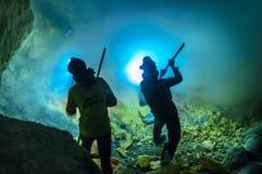 Kawah ijen o vulcão Imagem de Stock Royalty Free