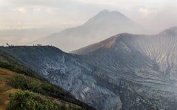 Kawah ijen o vulcão Fotos de Stock