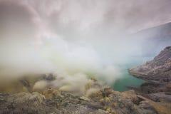 Kawah Ijen powulkaniczny krater Fotografia Stock