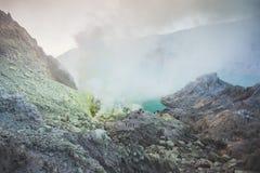 Kawah Ijen powulkaniczny krater Fotografia Royalty Free