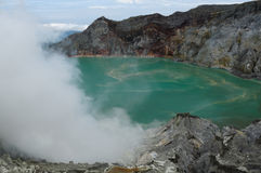 Kawah Ijen - sulphur vulcano, Indonesia, East Jawa Royalty Free Stock Photography