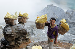 Kawah Ijen - sulphur vulcano, Indonesia, East Jawa Stock Photo