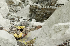 Kawah Ijen - sulphur vulcano, Indonesia, East Jawa Royalty Free Stock Photos