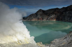 Kawah Ijen - sulphur vulcano, Indonesia, East Jawa Stock Photos