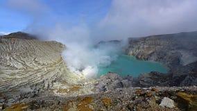Kawah Ijen volcanic crater emitting sulphuric gas Stock Images