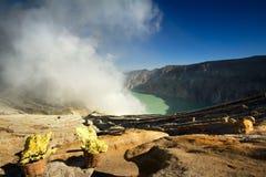 Kawah ijen volcano Stock Images