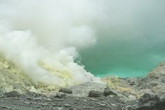 Kawah Ijen volcano East Java Royalty Free Stock Images