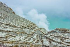 Kawah Ijen Volcano in East Java , Indonesia Stock Photo