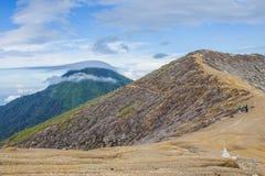 Kawah Ijen Volcano in East Java , Indonesia Stock Photos